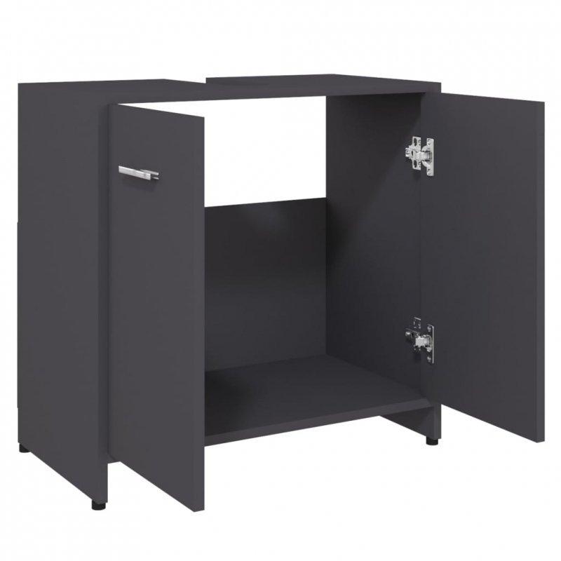 Szafka łazienkowa, szara, 60x33x58 cm, płyta wiórowa