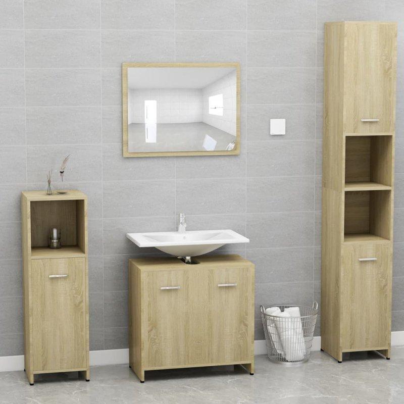 Szafka łazienkowa, dąb sonoma, 60x33x58 cm, płyta