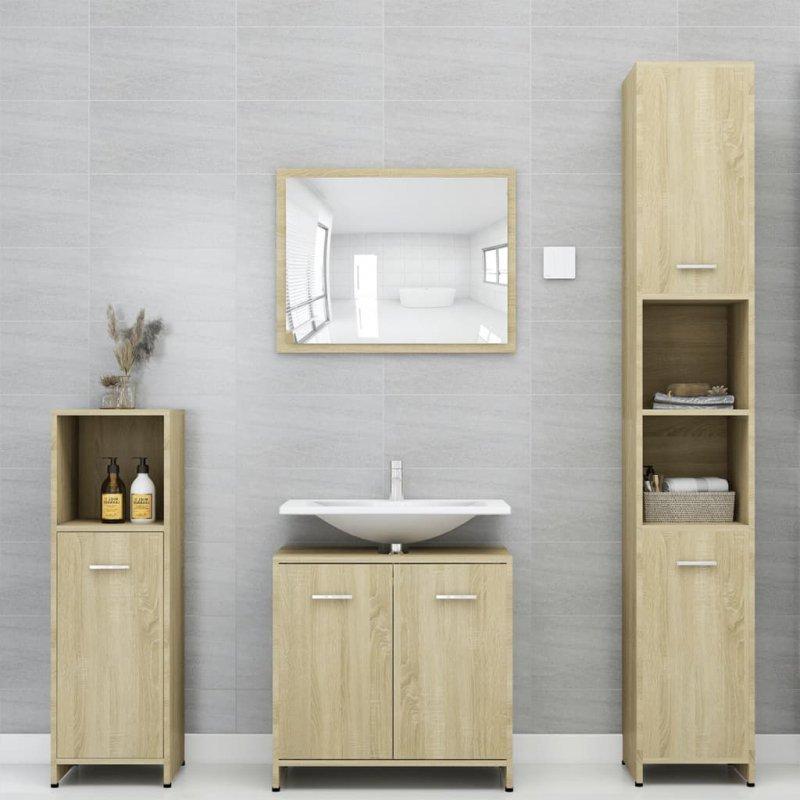 Szafka łazienkowa, dąb sonoma, 30x30x95 cm, płyta wiórowa