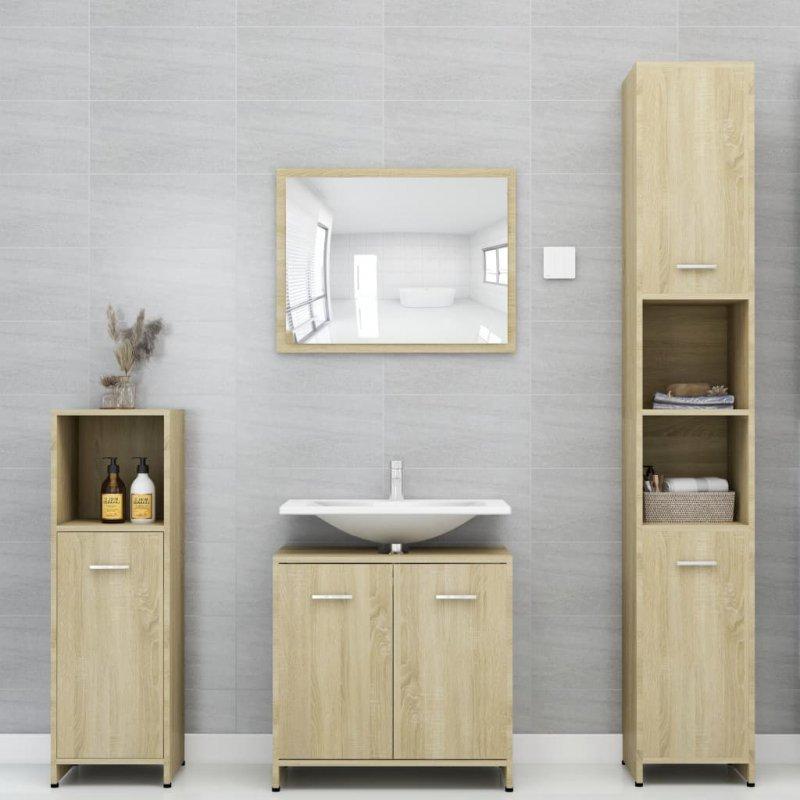 Szafka łazienkowa, dąb sonoma, 30x30x183,5 cm, płyta wiórowa