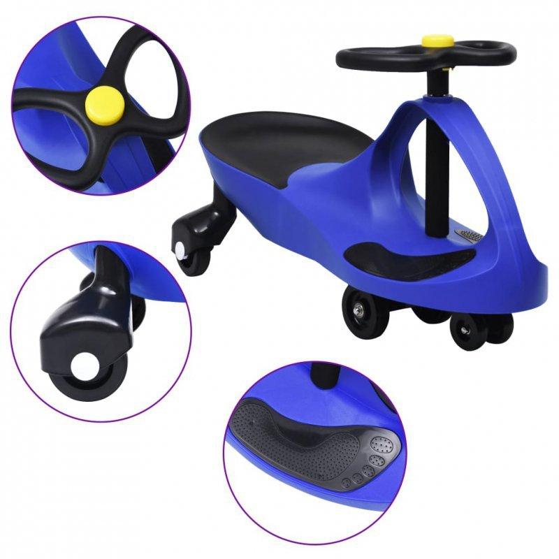 Jeździk balansowy dla dzieci, z klaksonem, niebieski