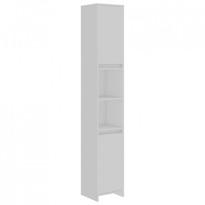 Szafka łazienkowa, biała, 30x30x183,5 cm, płyta wiórowa