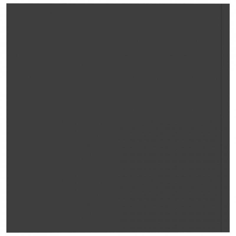 Szafka ścienna, szara, 80x39x40 cm, płyta wiórowa