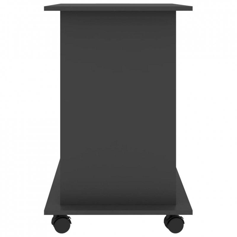 Biurko komputerowe, szare, 80x50x75 cm, płyta wiórowa