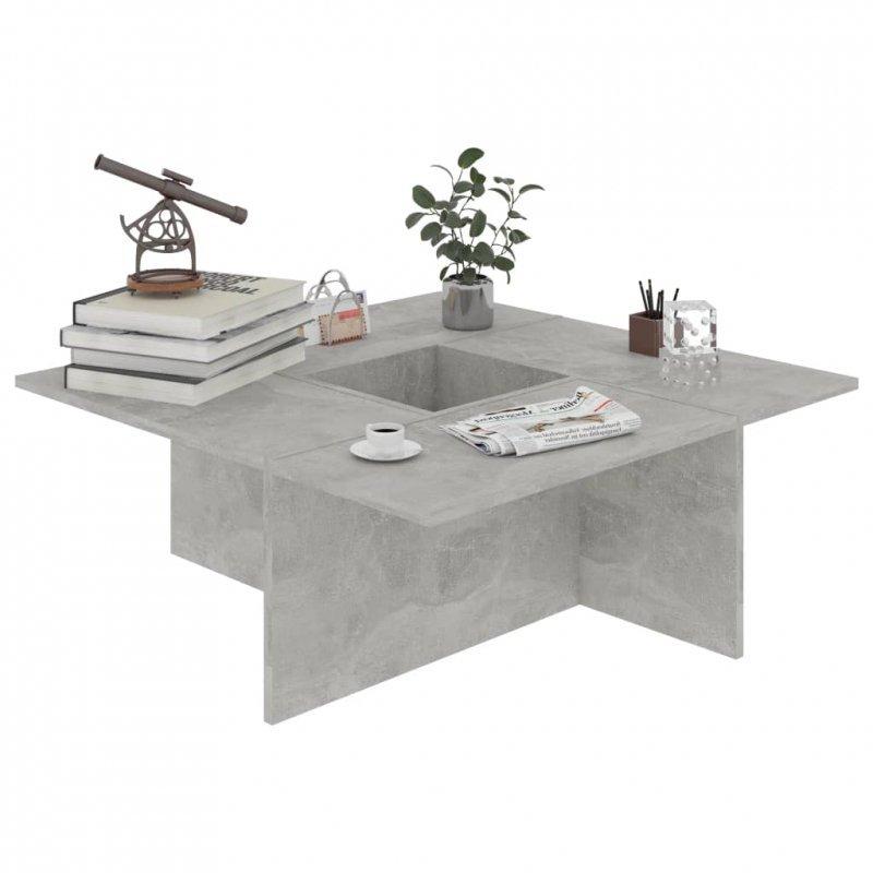 Stolik kawowy, szarość betonu, 79,5x79,5x30 cm
