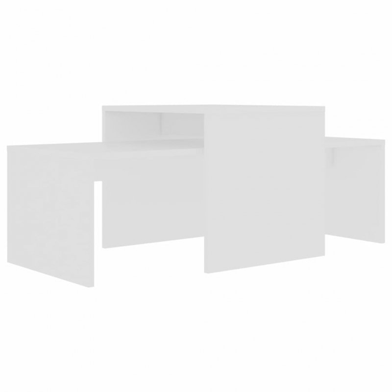 Stolik kawowy, biały, 100x48x40 cm, płyta wiórowa