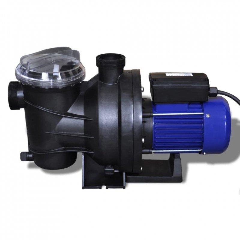 Elektryczna pompa basenowa, 800 W, niebieska