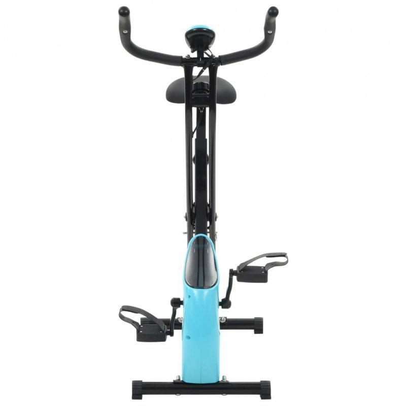 Magnetyczny rower X-bike z pomiarem tętna, czarno-niebieski