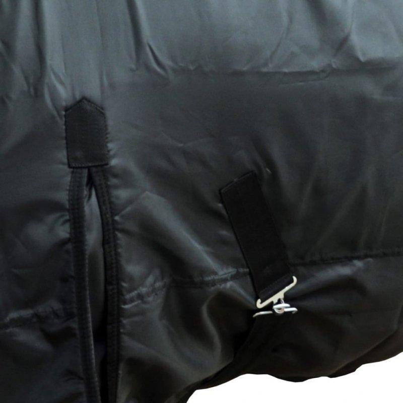 Polarowy koc dwuwarstwowy dla konia 155 cm czarny