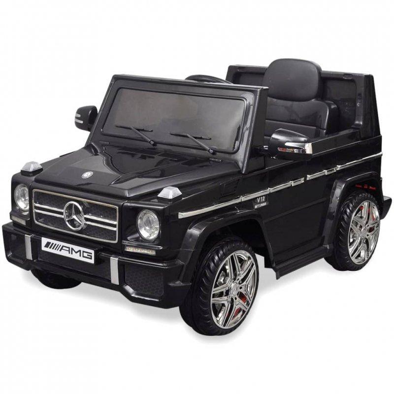 Autko elektryczne czarny Mercedes Benz G65 SUV 2 silniki