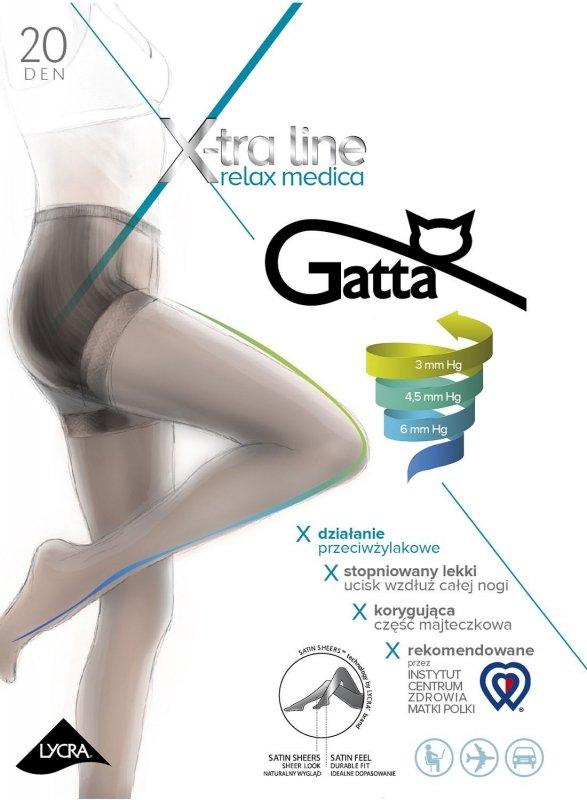 Rajstopy Gatta Body Relax Medica 20 den 5-XL