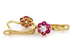 Kolczyki Gwiazdki purpurowe złoto 585 14cT