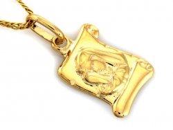 Medalik PAPIRUS wytłaczny  Złoto 585 14cT