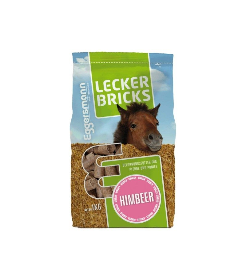 Lecker Bricks Malinowe- przysmaki dla koni 1kg  Eggersmann