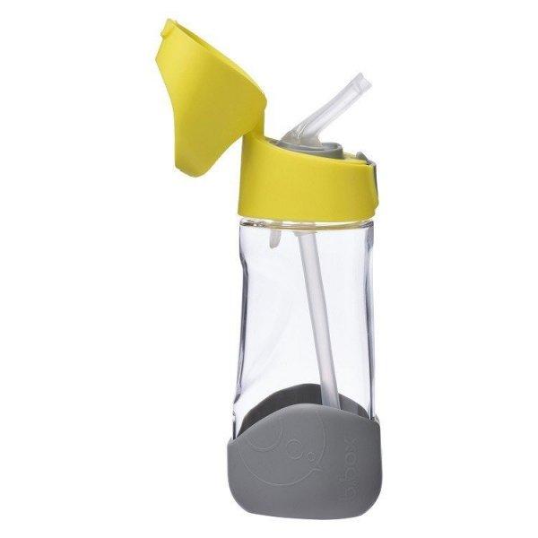 Butelka tritanowa ze słomką, 450 ml, Lemon Sherbet, 9m+