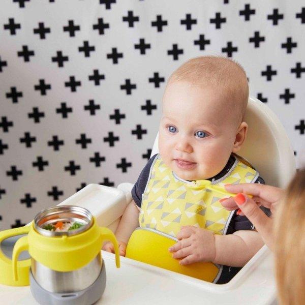Śliniak dla niemowlaka w saszetce z łyżeczką, Pine Slice