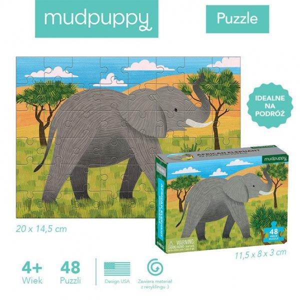 Puzzle mini Słoń afrykański 48 elementów