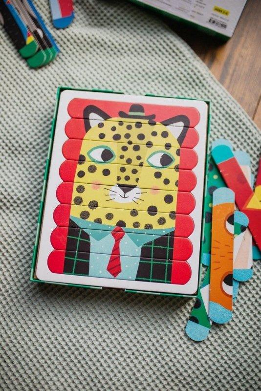 Puzzle Patyczki Zwierzęcy przyjaciele 24 elementy