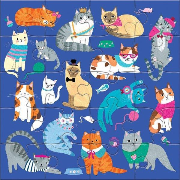 Puzzle magnetyczne Koty i psy