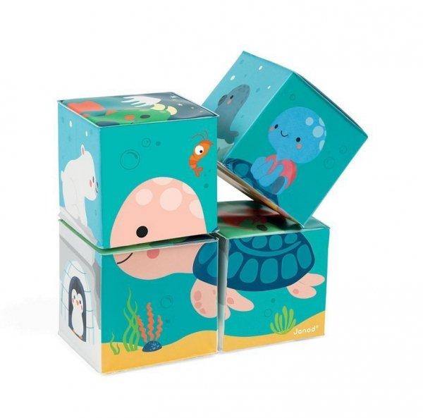 Klocki do kąpieli puzzle 6w1 Zwierzątka 4 elementy