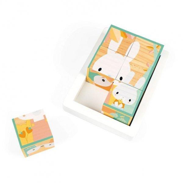 Klocki drewniane puzzle 6w1 Pure 6 elementów