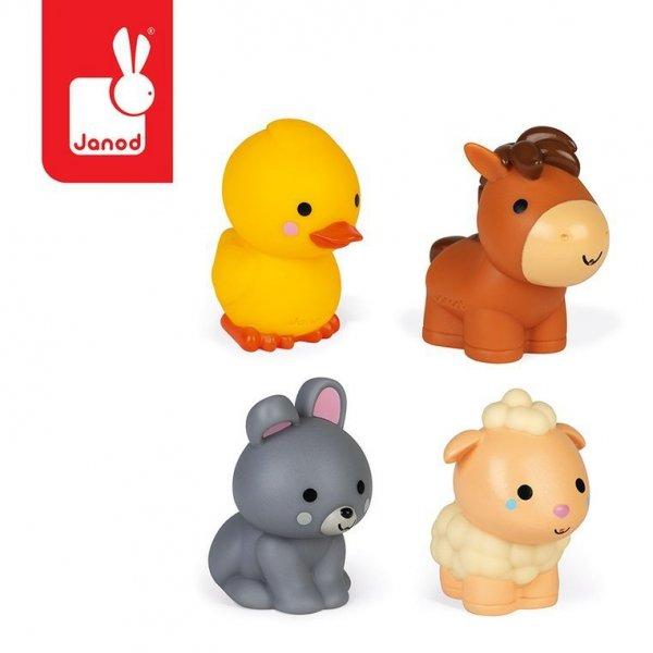 Zestaw figurek do kąpieli 4 zwierzątka z farmy 10 m+