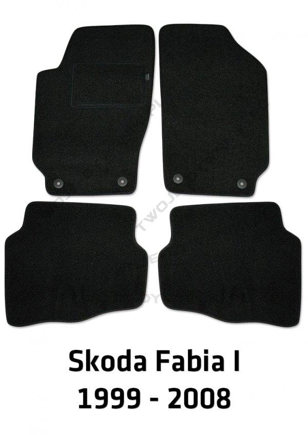 Dywaniki welurowe Skoda Fabia