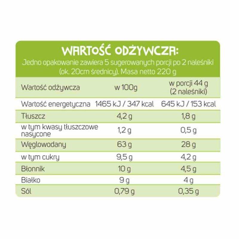 Mieszanka na naleśniki z probiotykami i kakao Cultured Foods BIO, 220g