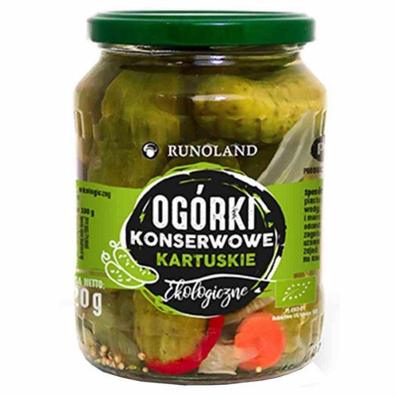 """Ogórek konserwowy """"Kartuski"""" Runoland BIO, 670g"""