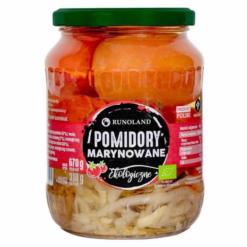 Pomidory marynowane Runoland BIO, 680g