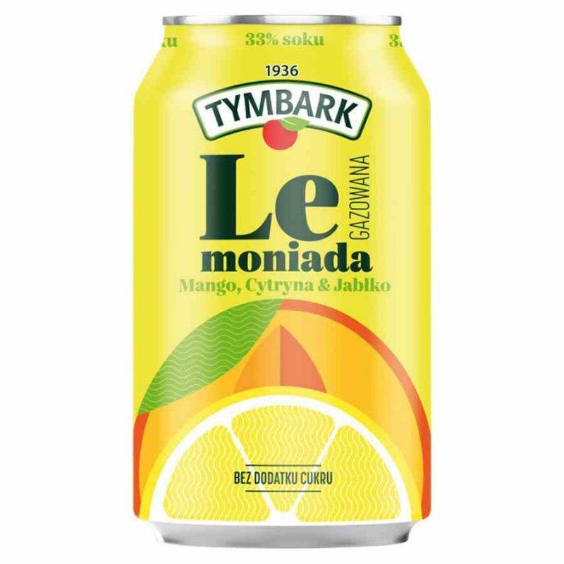 Gazowany napój jabłko-cytryna-mango Tymbark, 330ml