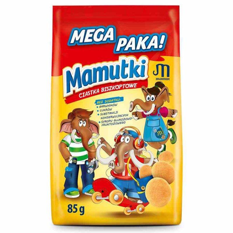 Mamutki - ciastka biszkoptowe bez dodatku cukru, 85g