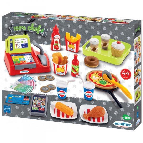 Ecoiffier Zestaw Szybkich Przekąsek Fast Food i akcesoriów