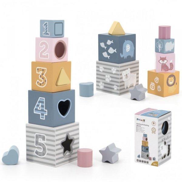 Klocki Drewniana Układanka Viga Toys
