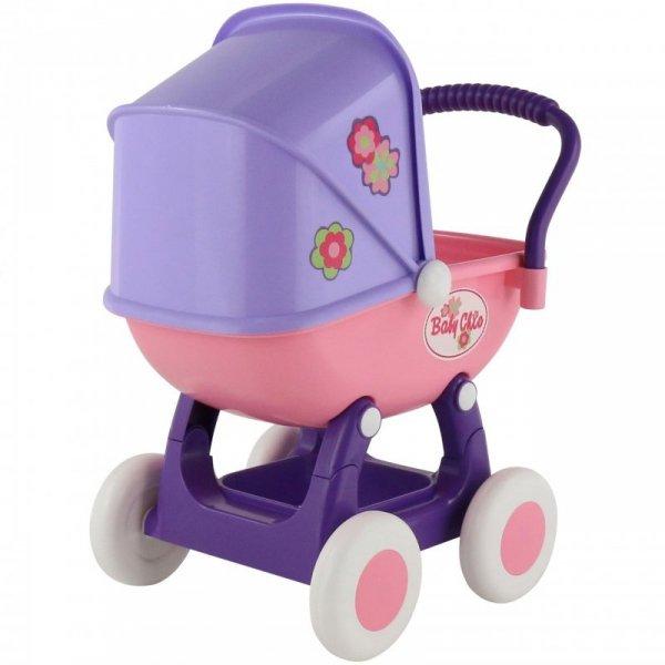 Duży Wózek Gondola Dla Lalek 43cm Arina Różowy