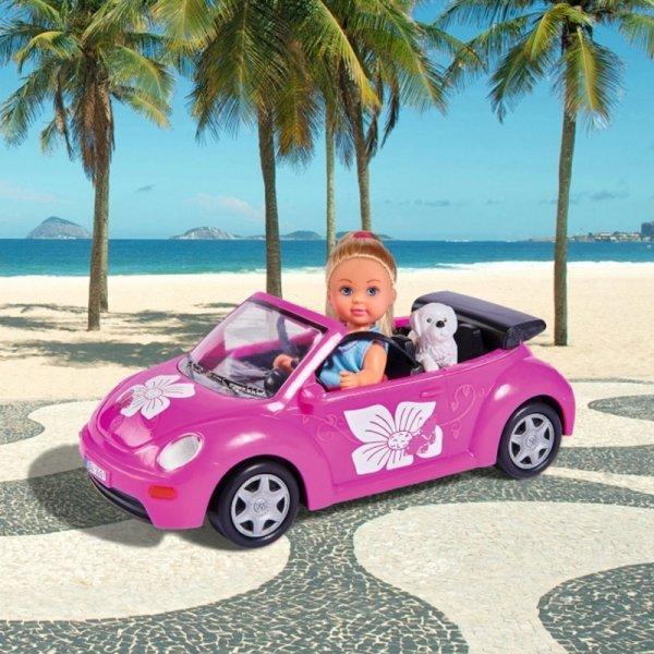 Simba Lalka Evi w Luksusowym Kabriolecie + Pupil Piesek