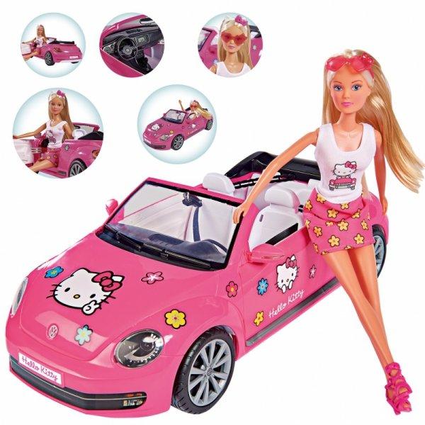 SIMBA Lalka Steffi w Kabriolecie Volkswagen the Beetle Hello Kitty