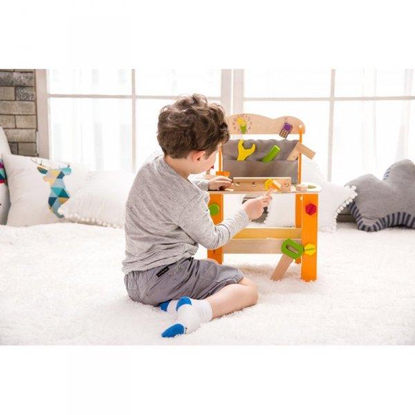 Drewniany warsztat z narzędziami Classic World 37 elementów