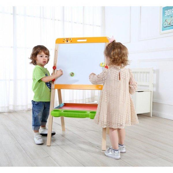 TOOKY TOY Dwustronna Magnetyczna Tablica Stojąca Dla Dzieci Składana