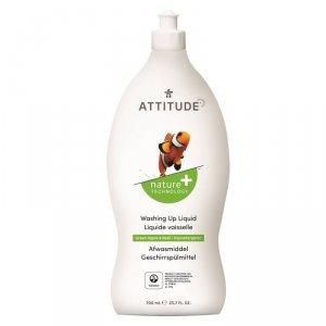 Attitude, Płyn do mycia naczyń, Zielone Jabłuszko i Bazylia (Green Apple i Basil), 700 ml