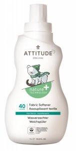 Attitude, Płyn do płukania ubranek dziecięcych Gruszkowy Nektar (Pear Nectar) 40 płukań - 1L