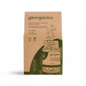 Georganics, Naturalne tabletki do płukania jamy ustnej, Tea Tree, 720 tabletek