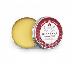 BEN and ANNA,Naturalny dezodorant w kremie PINK GRAPEFRUIT (aluminiowa puszka), 45g