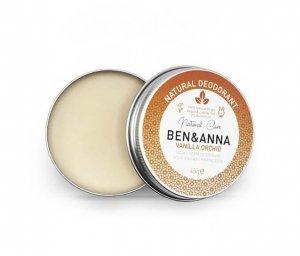 BEN and ANNA, Naturalny dezodorant w kremie VANILLA ORCHID (aluminiowa puszka), 45g