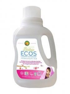 ECOS, Płyn do prania ze zmiękczaczem do tkanin, Lilak i kojące Shea, 50 prań, 1,5L