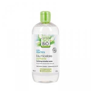 SO BIO, Bio Aloes, Oczyszczająca i matująca woda micelarna do demakijażu, 500 ml