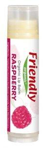 Friendly Organic, Organiczny balsam do ust Malinowy, 4,25g