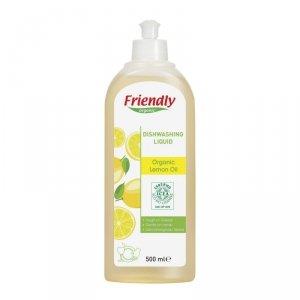Friendly Organic, Płyn do mycia naczyń Cytrynowy, 500 ml