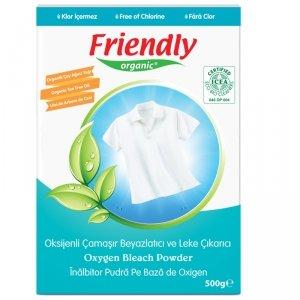 Friendly Organic, Tlenowy wybielacz w proszku, Bleach, 500g