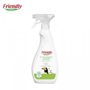 Friendly Organic, Płyn do mycia zabawek i pokoju dziecięcego Bezzapachowy, 500 ml